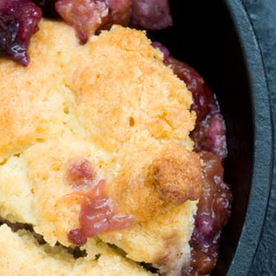 Blueberry Peach Cornmeal Cobbler