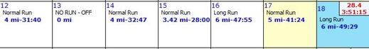 weekly running 2