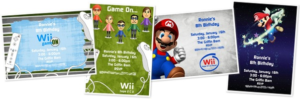 View Wii Invitations
