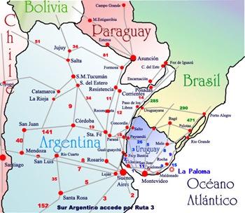 Rutas Mercosur Como llegar a Uruguay