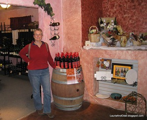 Laurie in the tasting room.