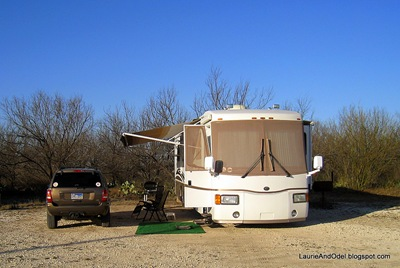 Our site at the Del Rio Elks Lodge
