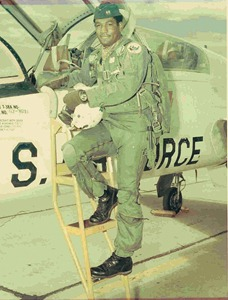 Odel as a handsome young jet fighter pilot.