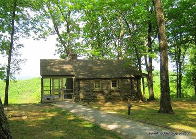 Stone cabin in state park