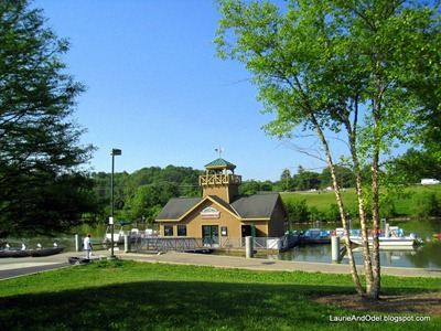 The boathouse, on the lake in the day use area.