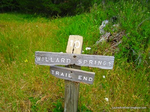 Willard Springs, end of the trail