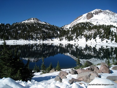 Lassen's reflection in Lake Helen