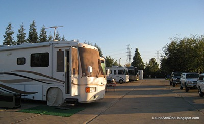 Parking on the Slab at Cal Expo RV Park