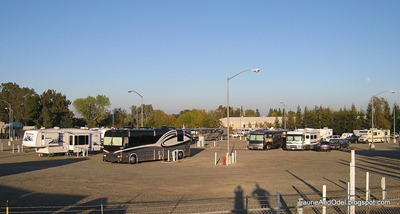 Nothin' fancy at this RV park - just a few acres of gravel and good electricity!