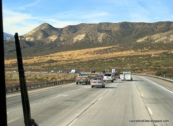 Down Cajon Pass heading towards Riverside