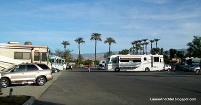 Indio Elks Lodge Parking - our site in November 2007.
