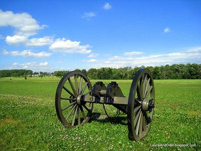 Canon on the ridge overlooking Gettysburg.