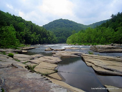 Peaceful Youghiogheny River scene