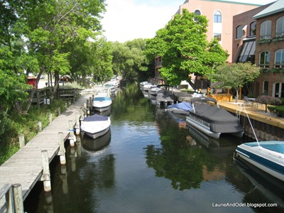 A boat canal in Traverse city