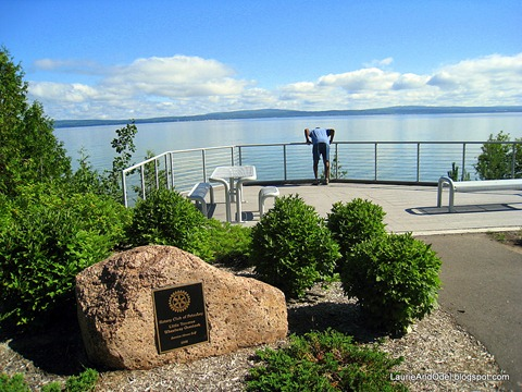 Odel high above Lake Michigan