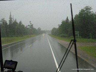 Driving to Houghton in the rain