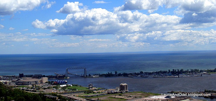 View of Duluth Harbor from Enger Park