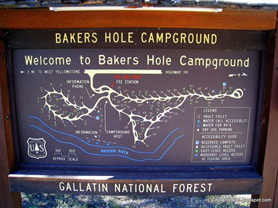 Bakers Hole Map Sign