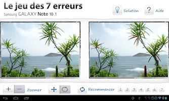 Screenshot of Jeu 7 erreurs pour Galaxy 10.1