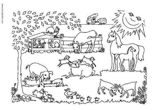Dibujos de animales y paisajes para colorear - Imagui