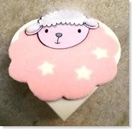 porta-bombom  - ovelhinha rosa