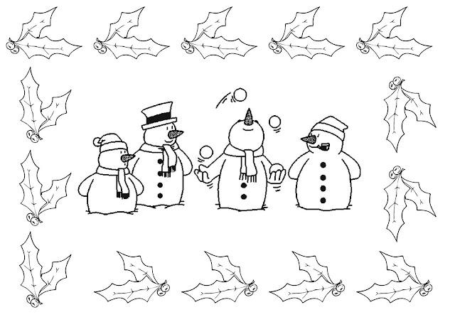Mu ecos de nieve para pintar - Dibujos de cenefas para pintar ...