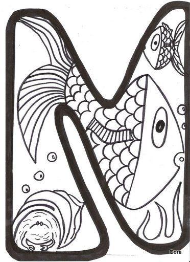 Caperucita Multicolor: Letras para colorear de verano 2