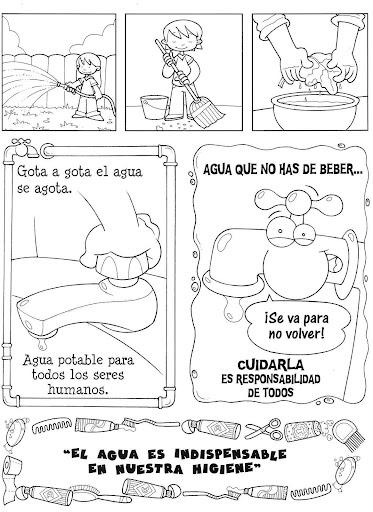 EL AGUA: DIBUJOS COLOREAR DEL AGUA - DIBUJOS MEDIO AMBIENTE