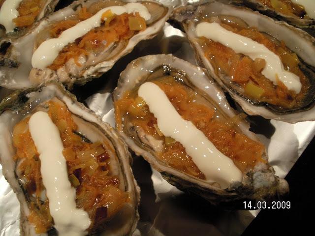 Cafetito ostras gratinadas punto de encuentro for Cocinar ostras