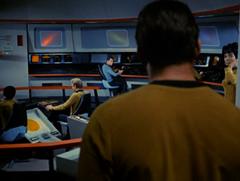 Sulu, Bailey, #39, Kirk, #38, Uhura