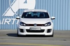 Rieger touched the Volkswagen Golf GTI