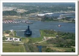 battleship from monument