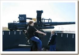 manning the gun