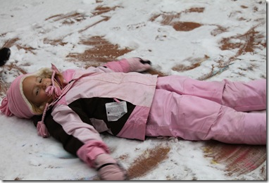 Emma's snow angel