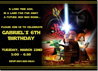 Star wars Invitation gabe