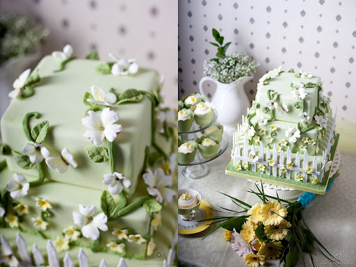 Spring has sprung and this fierce three tier square cake was inspired by the