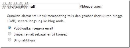 cara mosting dari email