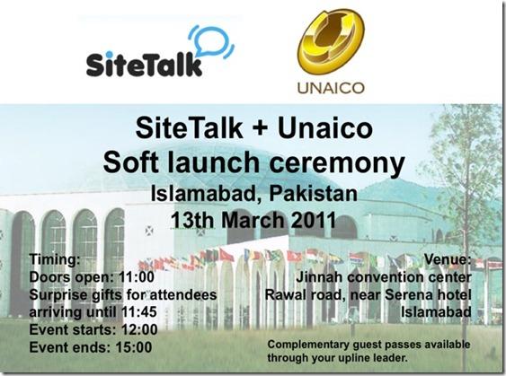 SiteTalk Soft launch Pakistan