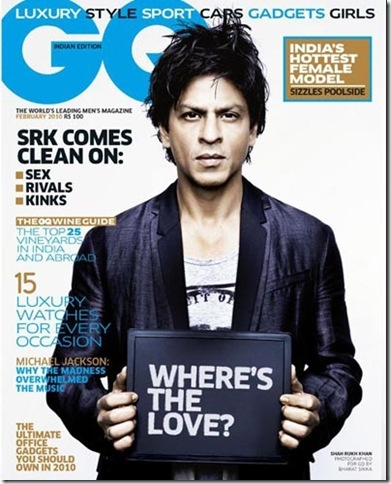 Shahrukh Khan sizzles on the cover of GQ Magazine