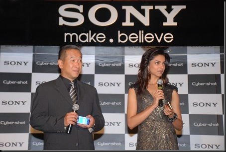 Deepika Padukone Sony Cyber Shot brand ambassador