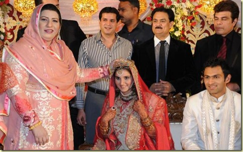 4Sania Mirza ,Shohib Malik  wedding reception pictures