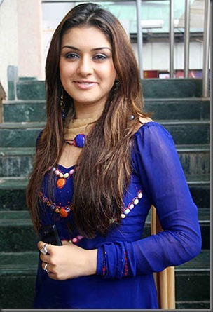 hansika-motwani-blue-dress-1