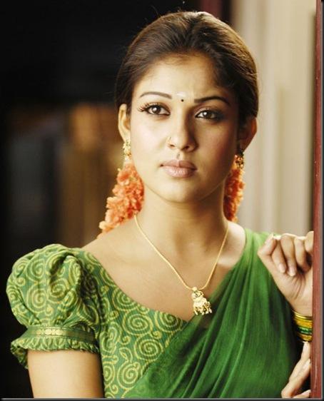 nayanthara half saree