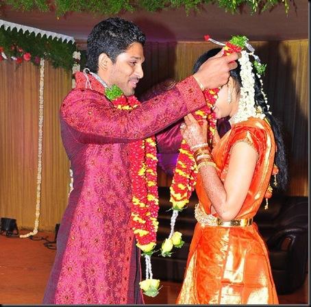 9Allu Arjun Sneha Reddy wedding reception pictures