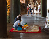 Prayers and Offerings, the Sanctuary of Truth - Pattaya, Thailand Photo