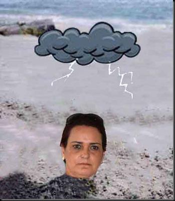 cara na areia