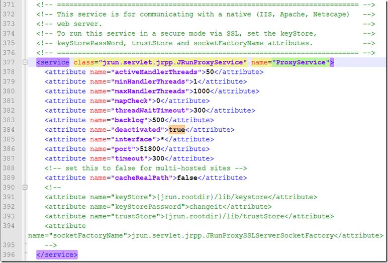 Jrun-ProxyService-Deactivated-True