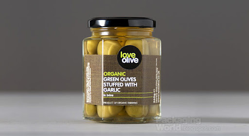 Love Olive Packaging Design / Organic green olives stuffed with garlic