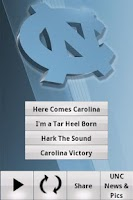 Screenshot of UNC Tar Heels Gameday