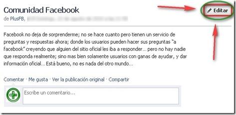 Editar Notas Facebook